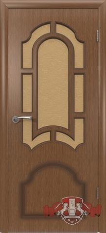 Дверь Владимирская фабрика дверей 3ДО3, цвет орех, остекленная