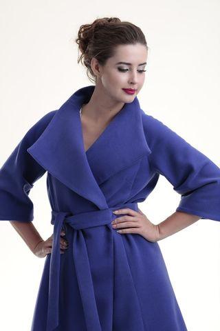 Пальто 07702 фиолетовый