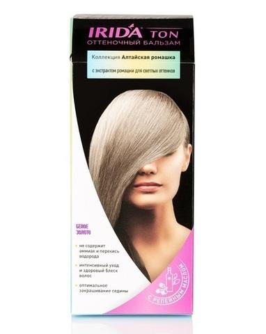 Irida Irida Ton Оттеночный бальзам для окраски волос Белое золото 2*25мл