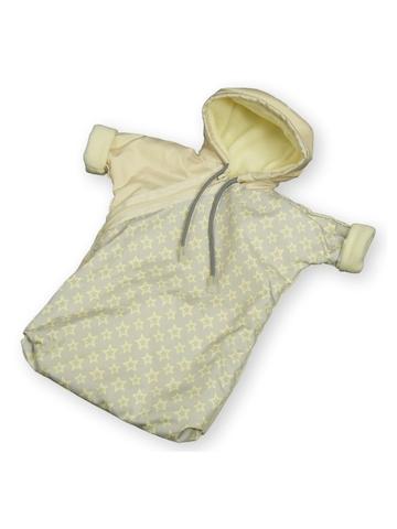 Прогулочный конверт - Кремовый. Одежда для кукол, пупсов и мягких игрушек.
