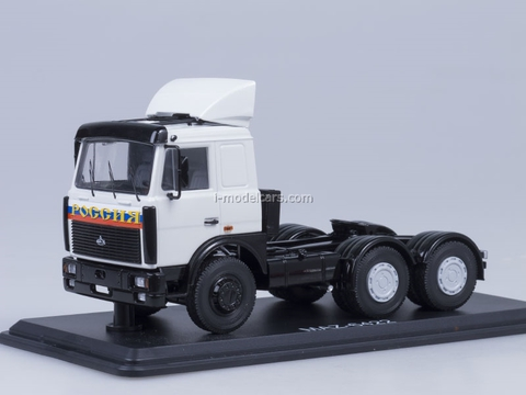 MAZ-6422 road tractor later with spoiler print Russia white Start Scale Models (SSM) 1:43