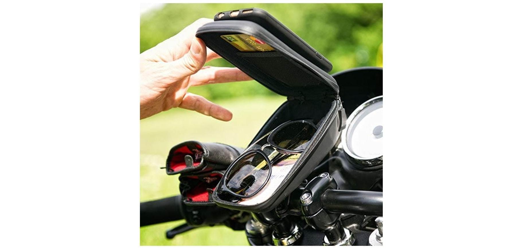 Сумка для велосипеда с держателем смартфона SP Wedge Case Set открытая