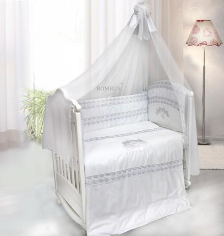 """1451 Комплект в кроватку """"Инфанта"""" 7пр (белый)"""