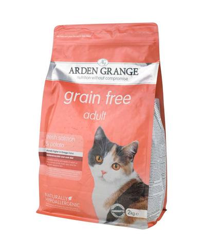 Arden Grange Adult корм беззерновой для кошек с Лососем и картофелем 2 кг