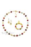 Комплект Carnavale Oro (золотистые серьги на серебре, золотистый браслет, ожерелье)