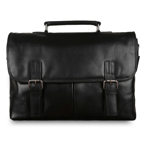 Портфель Ashwood Leather Elliot Black Black