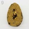 Бусина Агат с Кварцем с жеодой (тониров), цвет - золотой, 31-33 мм (№9 (33х23 мм))