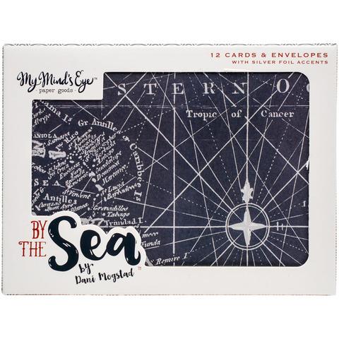 "Открытки с конвертами из коллекции BY THE SEA от My Mind""s Eye"