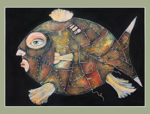 Рыба в ризах из кожи