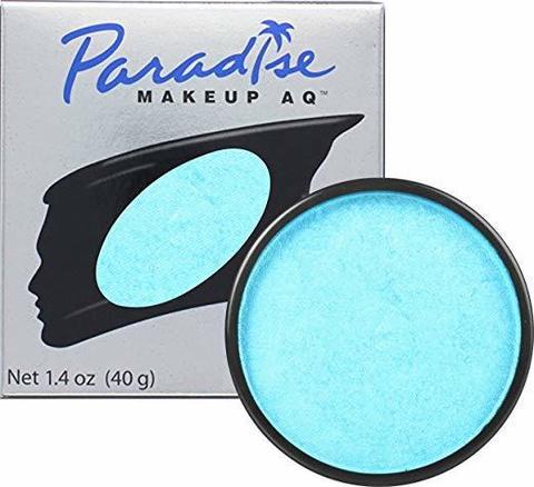 MEHRON Аквагрим сияющий Paradise, Light Blue - Blue bébé (Нежно-голубой), 40 г
