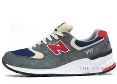 Кроссовки Мужские New Balance 999 Grey Navy Red
