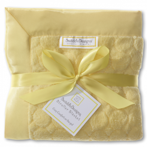 Плед детский SwaddleDesigns Yellow Puff Circle