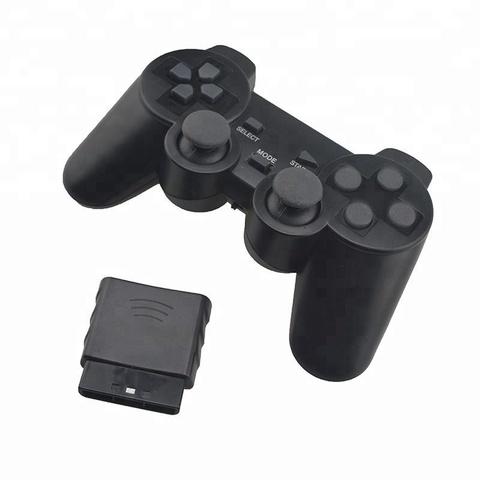 Sony PS2 Контроллер игровой беспроводной (черный, копия)
