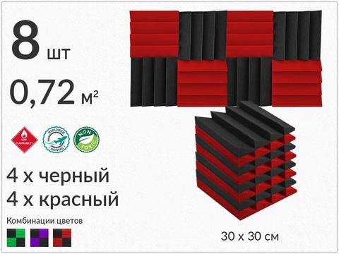AURA  300 black/red  8  pcs