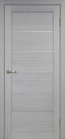 Дверь Optima Porte Турин 501АПП молдинг SC, цвет дуб серый, глухая