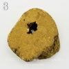 Бусина Агат с Кварцем с жеодой (тониров), цвет - золотой, 31-33 мм (№8 (32х30 мм))