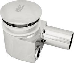 Сифон хромированный для раковины с внешним и внутренним переливом и донным клапаном Kopfgescheit