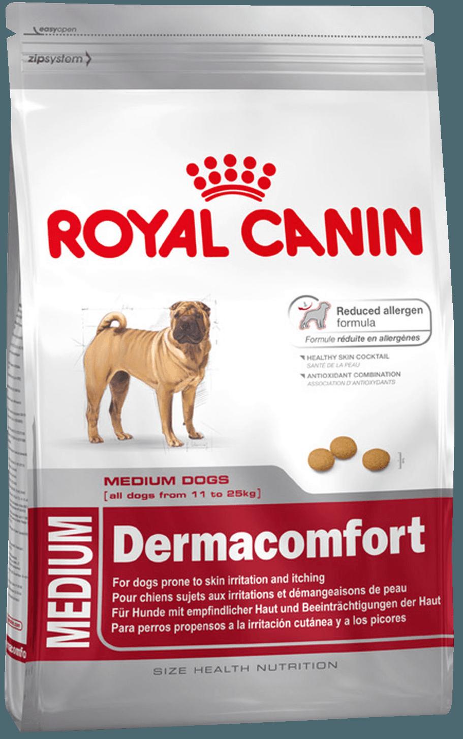 Сухой корм Корм для собак при раздражениях кожи Royal Canin Medium Dermacomfort l_medium-dermacomfort.png