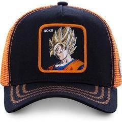 Кепка аниме оранжево-черная (Бейсболка аниме оранжево-черная)