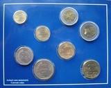 K9142 2001-2004 Перу 8 действующих монет BU в буклете 1 5 10 20 50 сентимо 1 2 5 соль