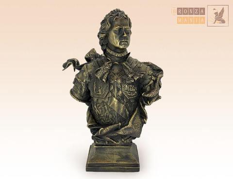 статуэтка бюст Петр 1 (Растрелли) ЦАМ