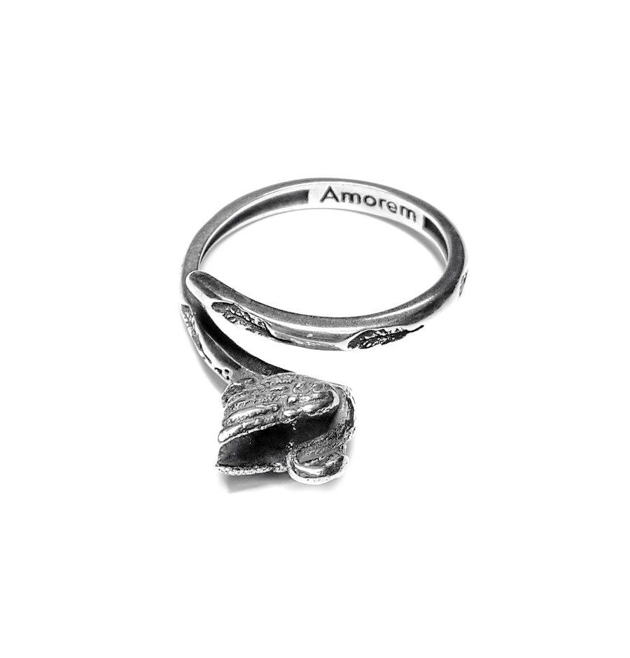 Swan Totem Ring, Sterling Silver