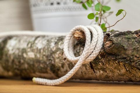Хлопковый шнур с наполнителем экрю 5 мм