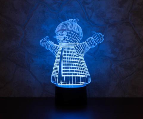 Лампа Снеговик
