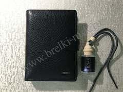 Комплект №2: Мужское Портмоне 2в1 с отделением для паспорта, Обложка для автодокументов из натуральной кожи Флотер и парфюм для авто.