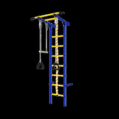 Шведская стенка (dsk с окрашенными ступенями) синий