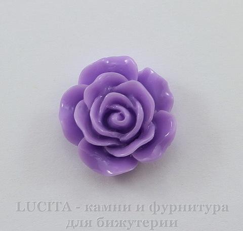"""Кабошон акриловый """"Роза"""", цвет - фиолетовый, 14 мм"""