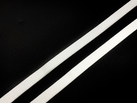Резинка бретелечная белая 10 мм  (цв. 001)