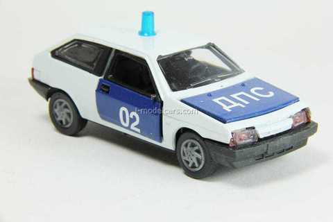 VAZ-2108 Lada Samara hatchback 3-doors DPS traffic police (white) Agat Mossar Tantal 1:43