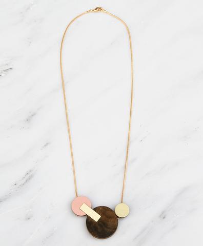 Подвеска Celeste II Necklace Walnut Veneer