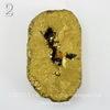 Бусина Агат с Кварцем с жеодой (тониров), цвет - золотой, 39-45 мм (№2 (39х24 мм))