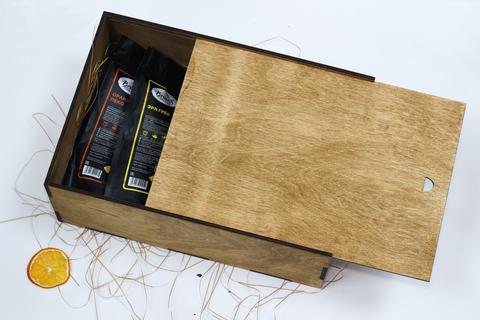 Набор чёрных чаёв в деревянном коробе