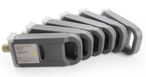 Комплект перезаправляемых картриджей для Canon imagePROGRAF iPF8400se (PFI-306, PFI-307, PFI-706, PFI-707) с чипами. 6 шт.
