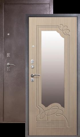 Дверь входная Сибирь S-4, 2 замка, 1,5 мм  металл, (серебро+дуб седой)