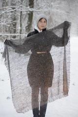Оренбургский пуховый платок 72 фото 4