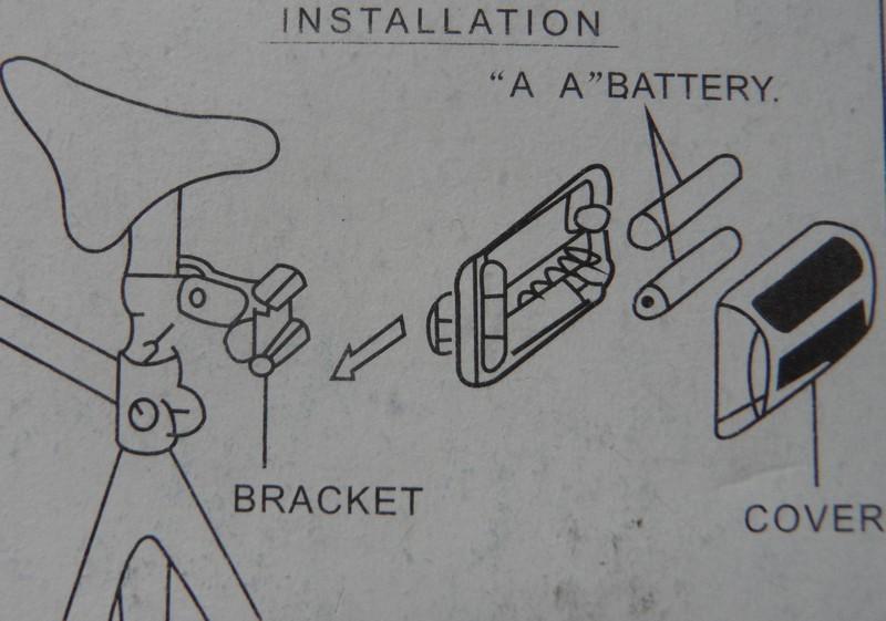 Инструкция по креплению фонаря к велосипеду
