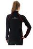 Женская спортивная куртка Brubeck Windproof Zip Top (LS11050) черная фото