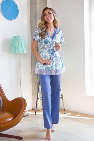 Пижамный комплект женский голубого цвета