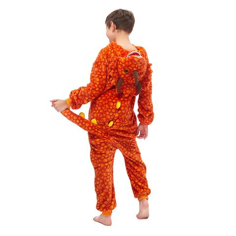 Трицератопс оранжевый детский