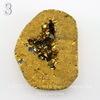 Бусина Агат с Кварцем с жеодой (тониров), цвет - золотой, 36-38 мм (№3 (36х29 мм))
