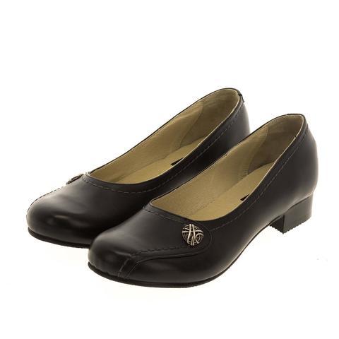 628268 Туфли женские черные. КупиРазмер — обувь больших размеров марки Делфино