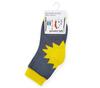 Носочки для малышей серые с рисунком Солнышко