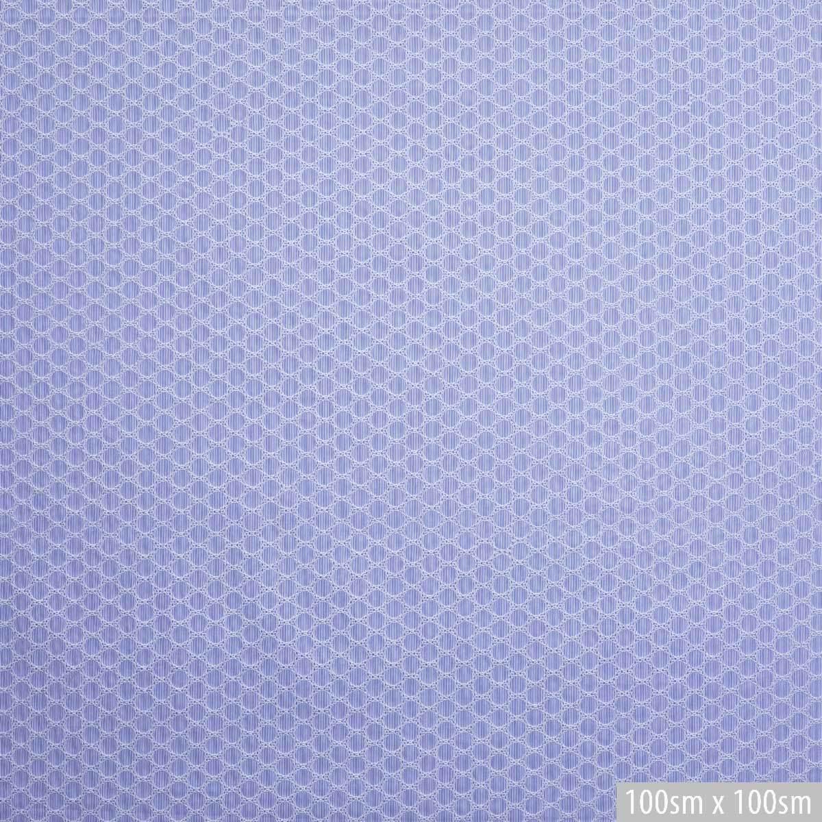 Вышитый хлопок в тонкую бело-голубую полоску