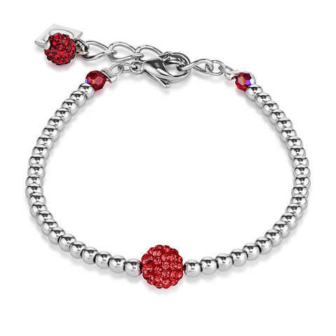 Браслет Coeur de Lion 0112/30-0321 цвет красный, серебряный