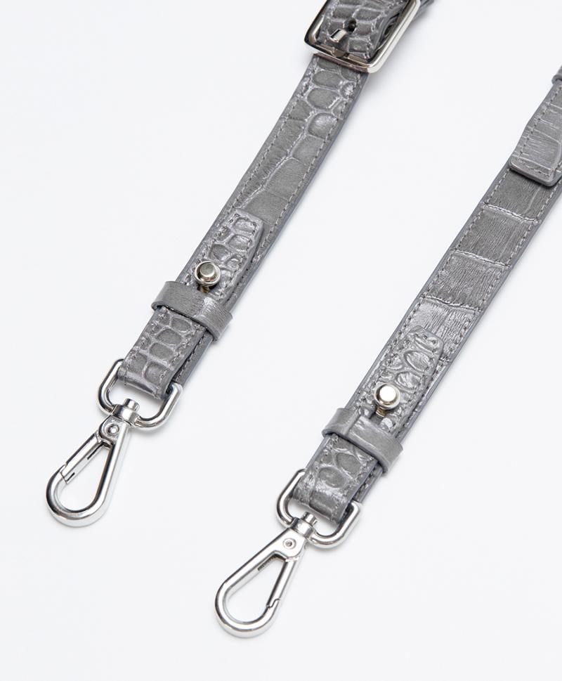 Ремень плечевой на карабинах Foggy Grey