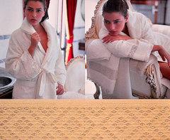 Элитный халат махровый Chloe слоновая кость от Timas